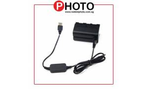 NP-F750 Dummy Battery for Sony NP-F550/750/960 series batteries with USB Connection