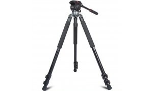 Jieyang JY0509B video tripod with flip lock up to 160cm (compatible with Manfrotto systems)