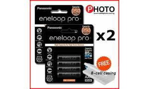 [Made in Japan] (2 packs) Panasonic Eneloop PRO 950mAH AAA Rechargeable Batteries with FREE 8-cell casing