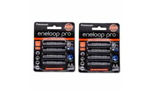 [Made in Japan] (2-Pack) AA Size Panasonic Eneloop 2550mAh Pro Battery (Pre-Charged and Rechargeable)