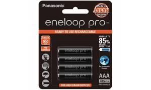 [Made in Japan] Panasonic Eneloop PRO 950mAH AAA Rechargeable Batteries with FREE Battery case