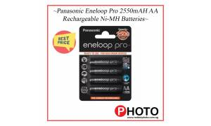 [Made in Japan]Panasonic Eneloop Pro 2550mAh AA Rechargeable Batteries 2550 mAh with FREE Battery case