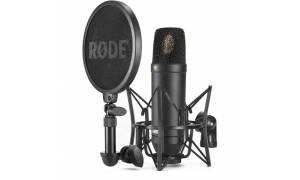 Rode NT1 Kit Condenser Microphone with SM6 Shock Mount and Pop Filter