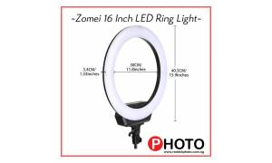 Zomei 16 Inch LED Ring Light (40cm)