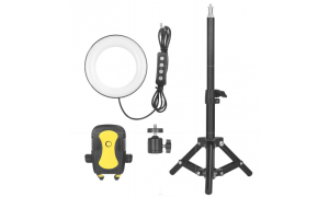 6 Inch Bi-colour LED Ring Light with mini stand and smartphone holder